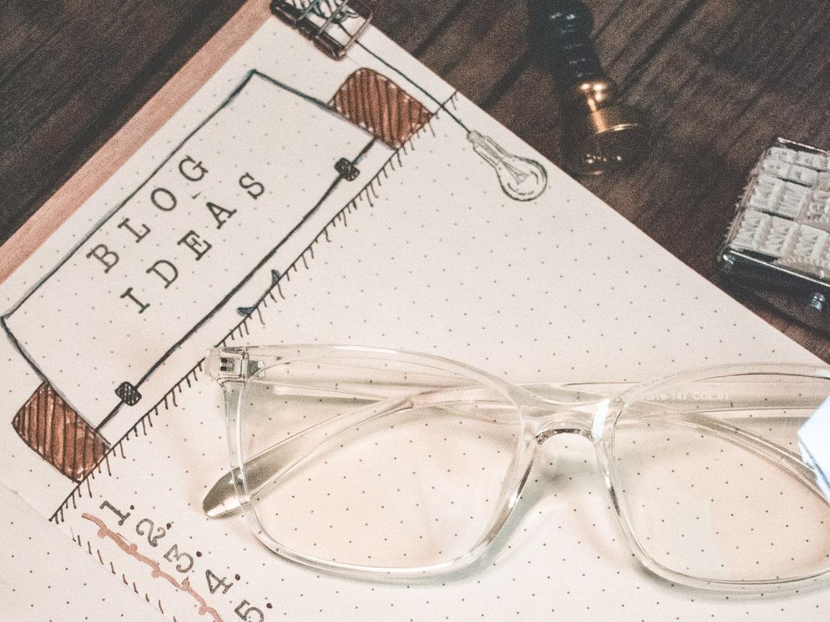 Bullet Journal Tracker Section + Blog Ideas and BrainDump