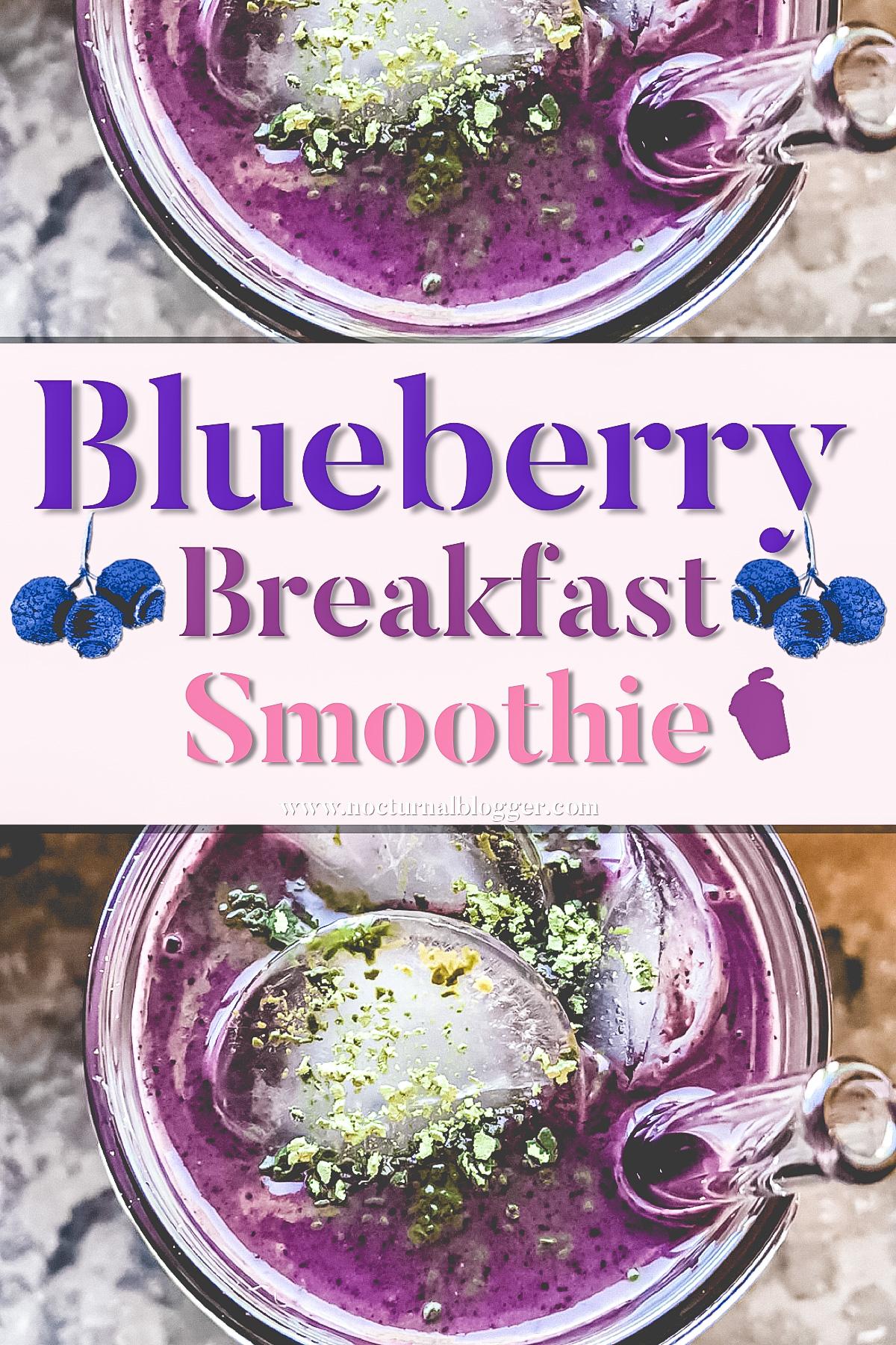 Blueberry Breakfast SmoothieRecipe