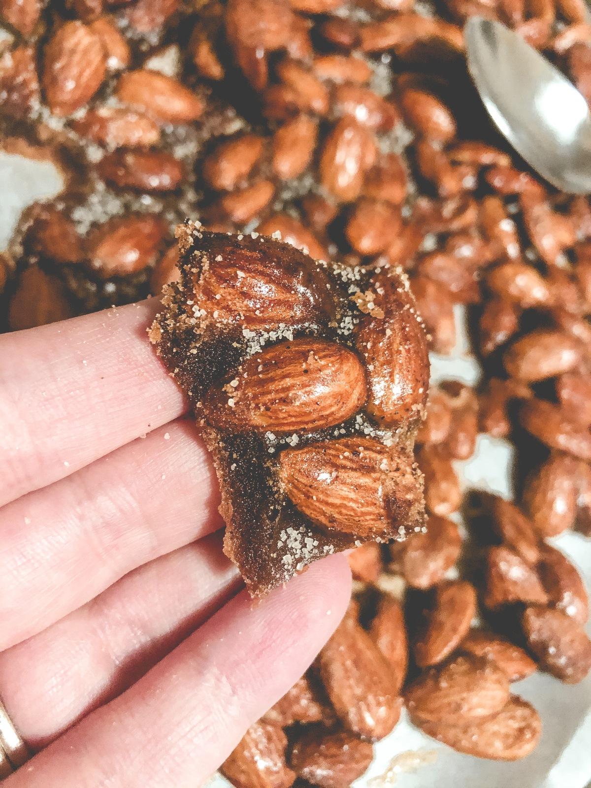 My recipe for Crunchy, cinnamon-SugarAlmonds